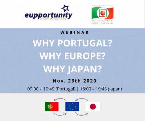 """Webinar """"Why Portugal? Why Europe? Why Japan?"""""""